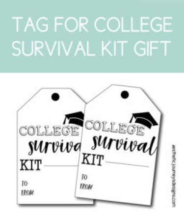 College Survival Kit Tag