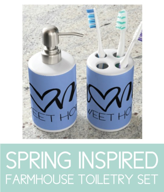 Spring Inspired Farmhouse Toiletry Set