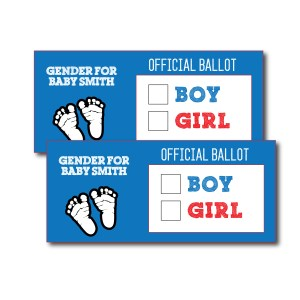 Patriotic Gender Voting Cards