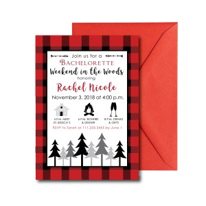 Weekend in the Woods Bachelorette Invite