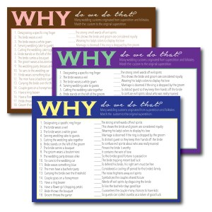 Why Do We Do That Wedding Traditions Game