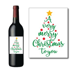 Very Merry Christmas Bottle Label