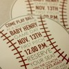 Baseball Baby Shower Invitation with Envelopes | Printed Invites and Color Envelopes | Circle Invite