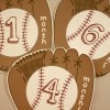 Baseball Themed Milestone Stickers | Set of 12 Stickers | Baby Shower Gift | With or Without Customization