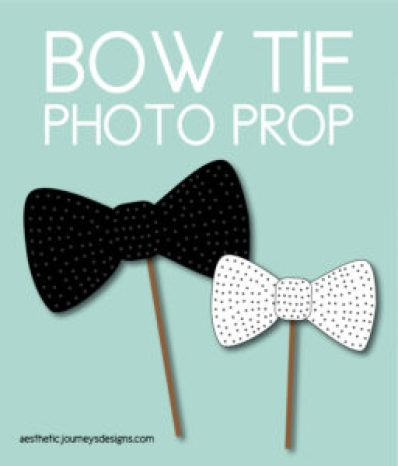 Bow Tie Photo Props
