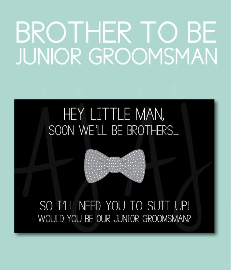Brother to Be Junior Groomsman Card