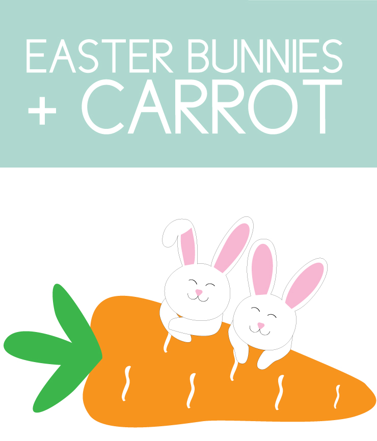 Easter Bunnies with Carrot