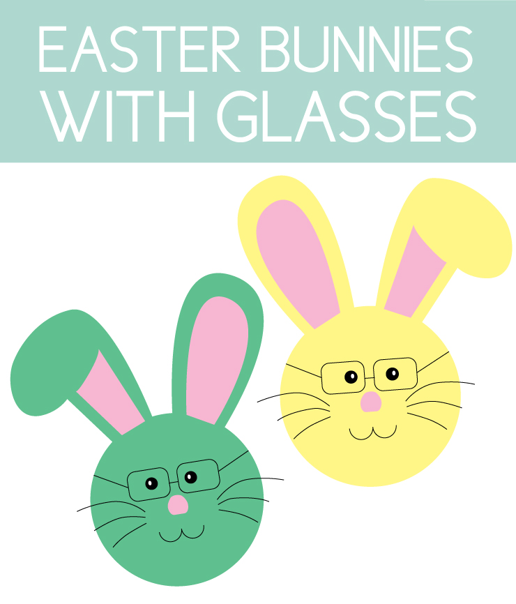 Colorful Bunnies with Glasses