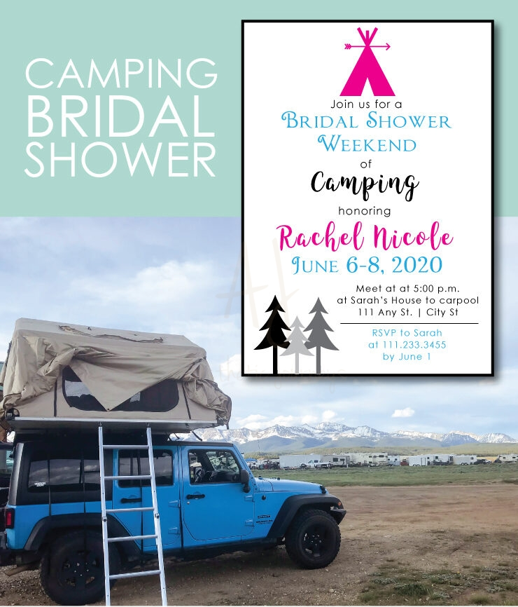 Go Camping for a Bridal Shower