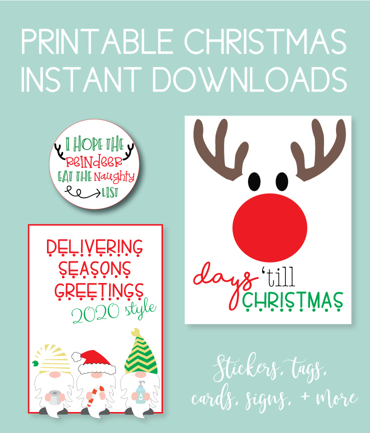 Download all the printables you need for the holiday season. Find printable christmas instant downloads for cards, tags, gifts, decor, and more.