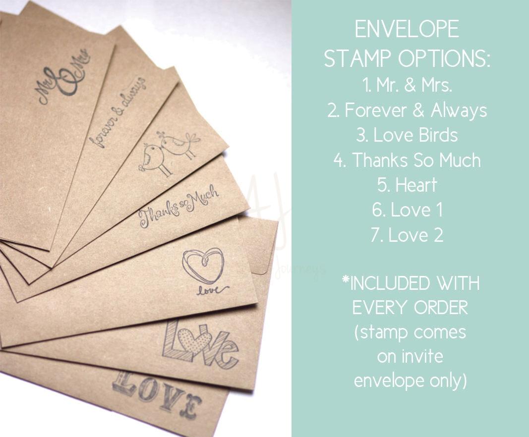 Classic Chalkboard Wedding Invite Envelopes