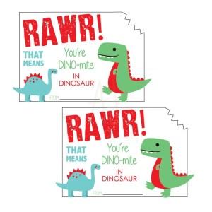 dinosaur valentine card