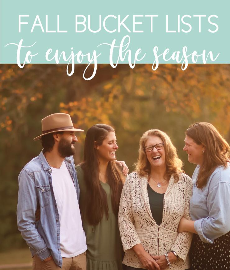 enjoy the fall season with creative bucket lists