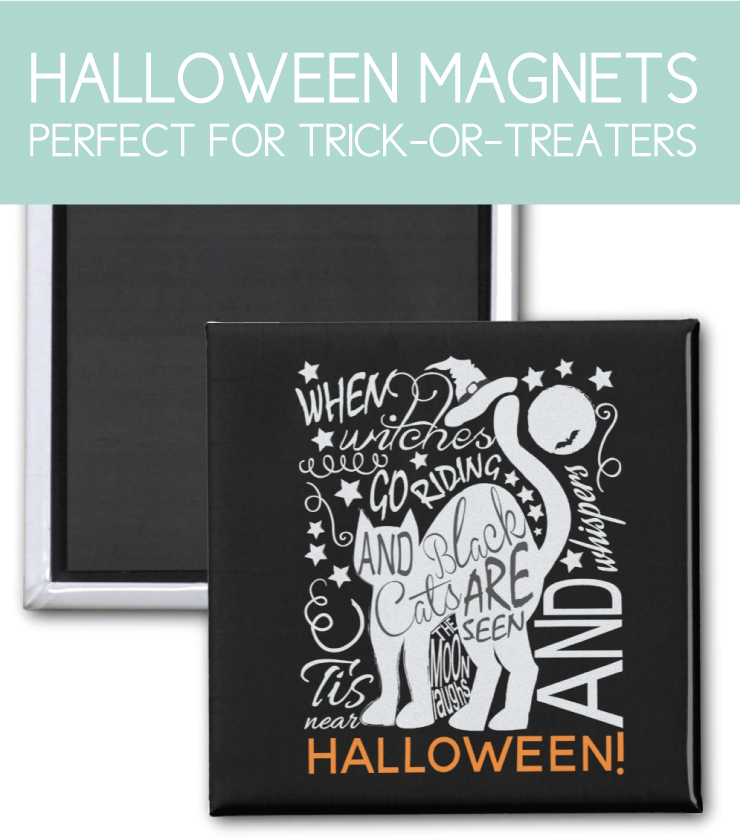 halloween magnet with cat