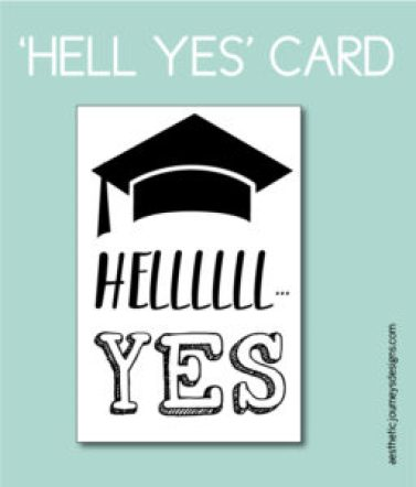 Hell Yes Printable Card