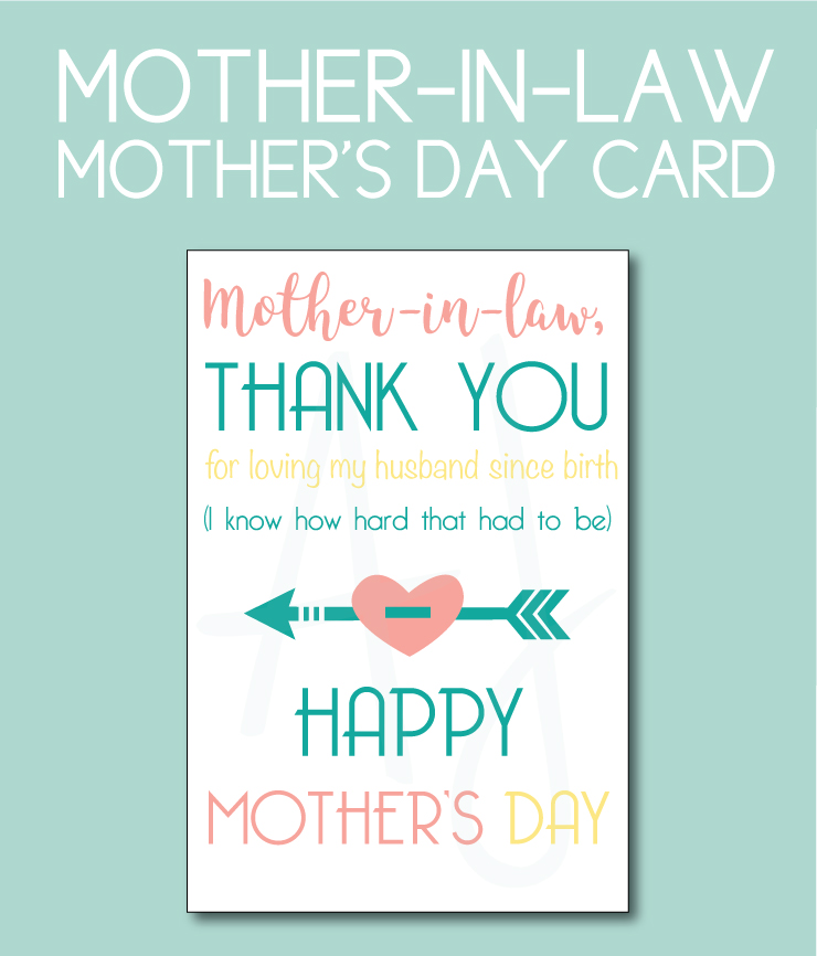 Mother-in-law card for Mother's Day