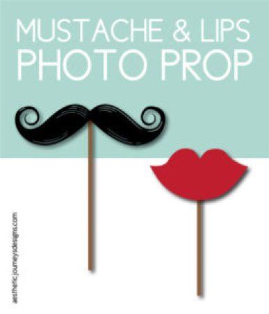 Mustache & Lips Photo Props