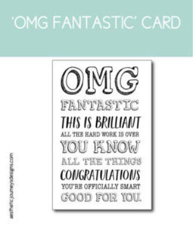 OMG Fantastic Printable Card