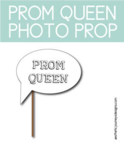 Prom Queen Photo Prop