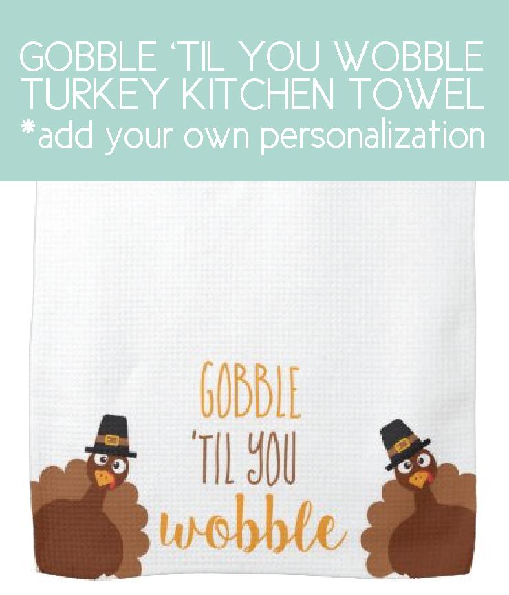 turkey towel for easy thanksgiving dinner decor