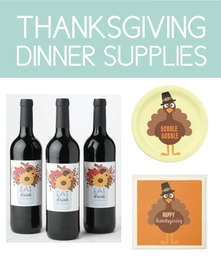 Thanksgiving dinner supplies