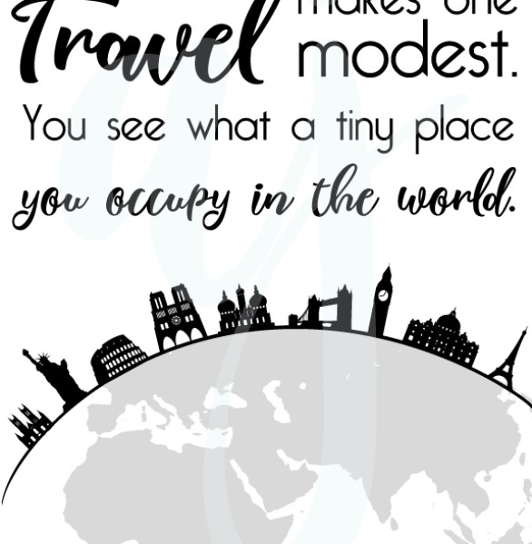 Travel Makes You Modest Quote