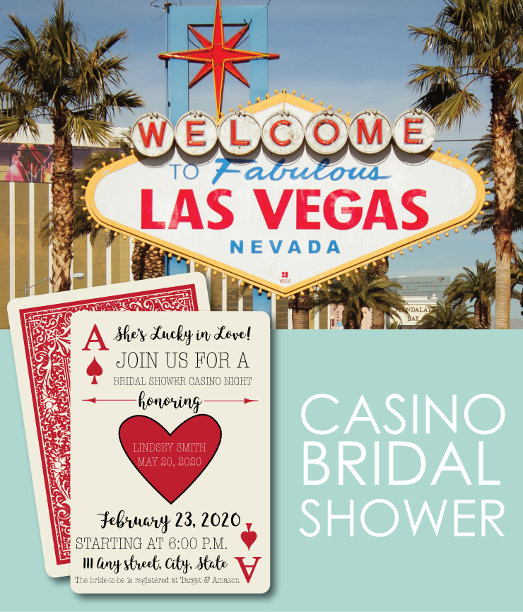 Head to Vegas or have an at-home casino for a Bridal Shower