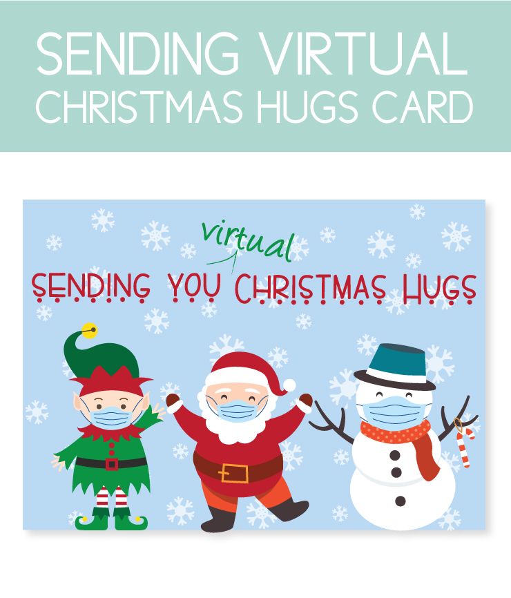 Printable Christmas Instant Download Cards