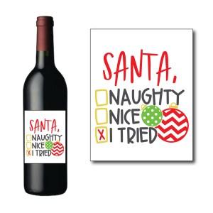 Dear Santa Wine Bottle Label