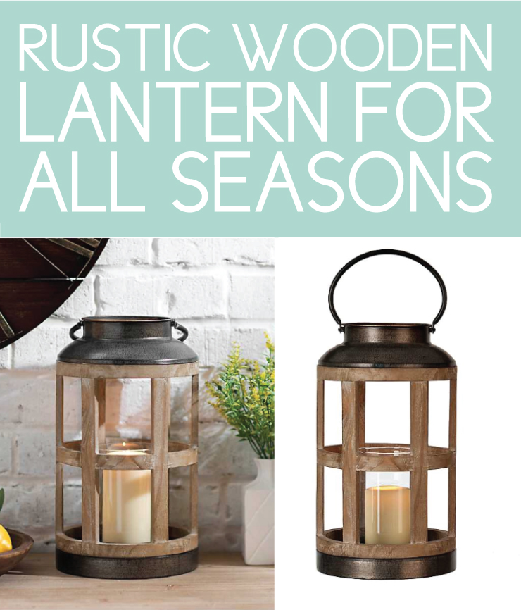 rustic wood lanterns perfect for fall front porch decor