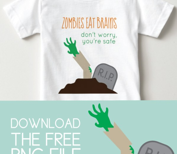 Zombies eat brains, you're safe kids t-shirt