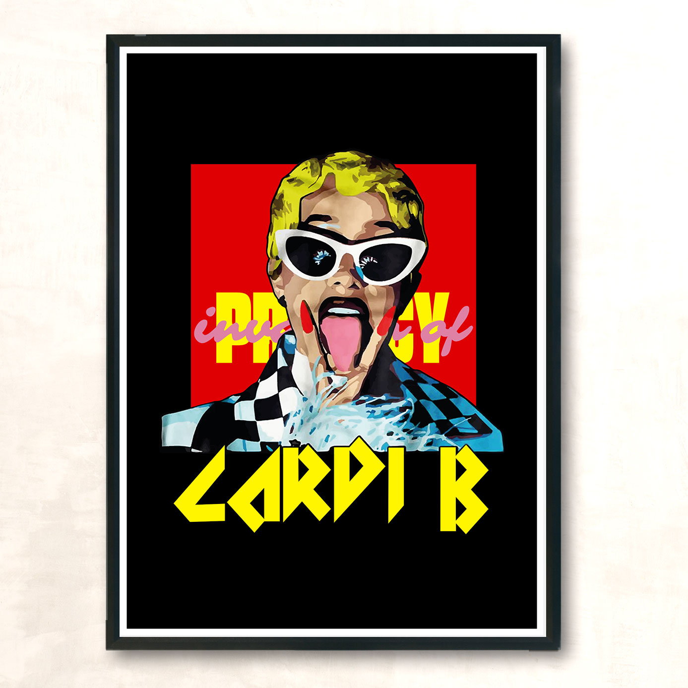 privacy cardi b vintage wall poster