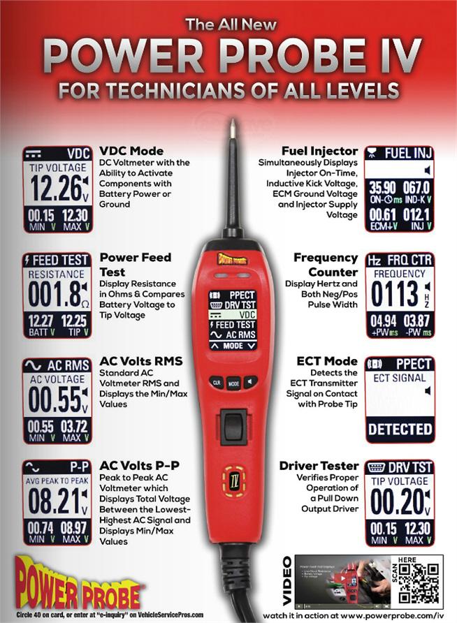 Power Probe Pp401as Powerprobe 4 Iv Diagnostic Electronic Circuit
