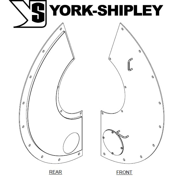 Need a replacement front door for your 100 to 150 HP York