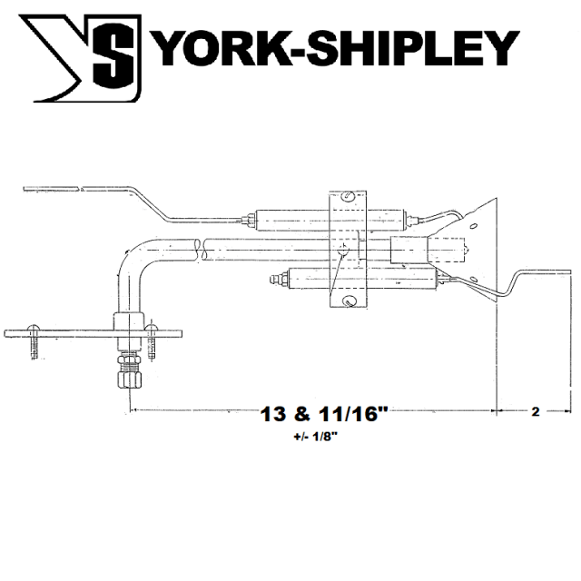 Replacement 121465 York-Shipley & Donlee Igniter assembly