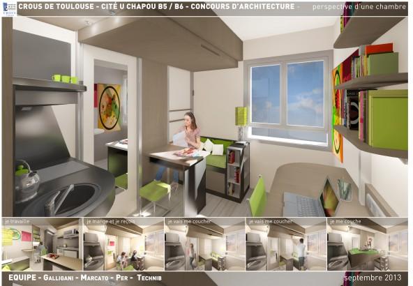 CIT UNIVERSITAIRE CHAPOU  AA Agence dArchitecture