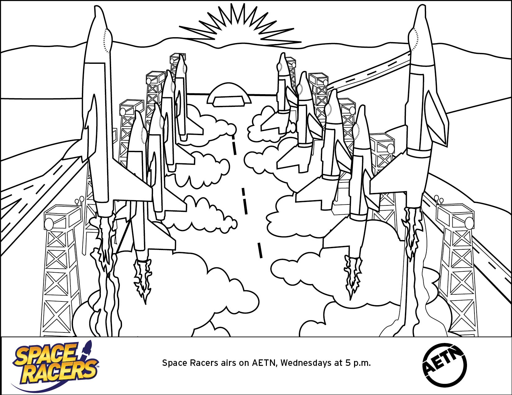 space racers Colouring Pages