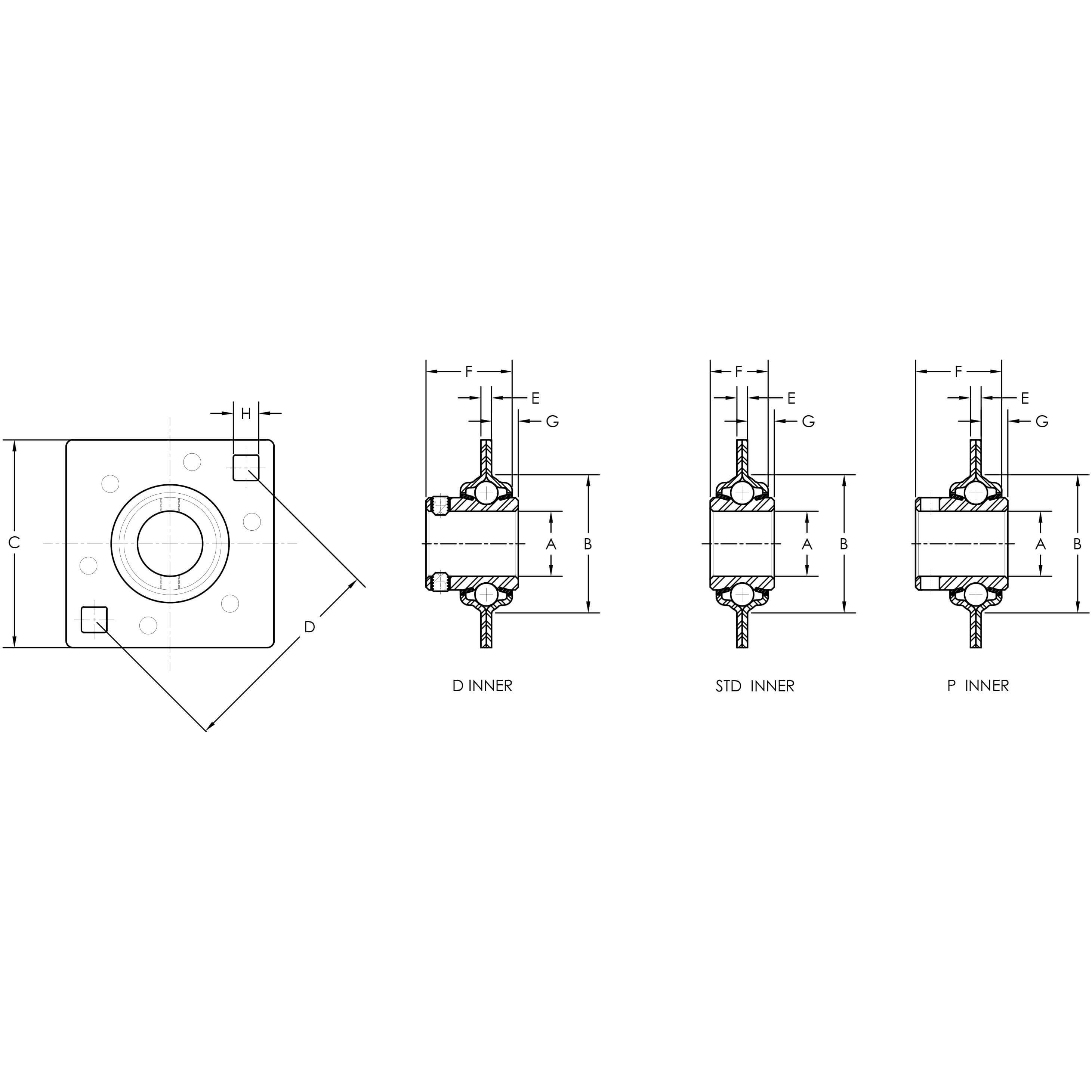 Conveyor And Grain Elevator Adapter Bearing