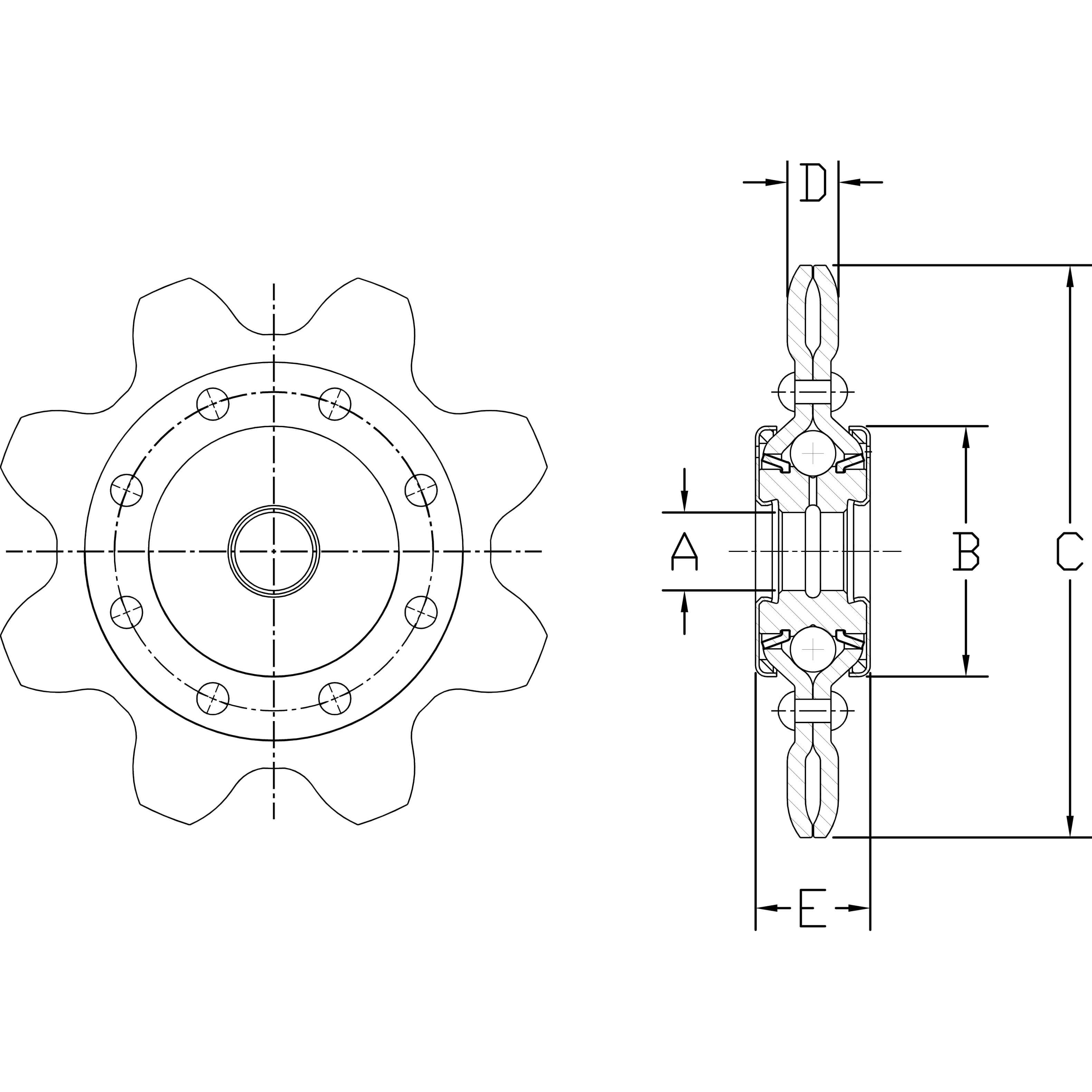 Heavy Duty Extended Pitch Idler