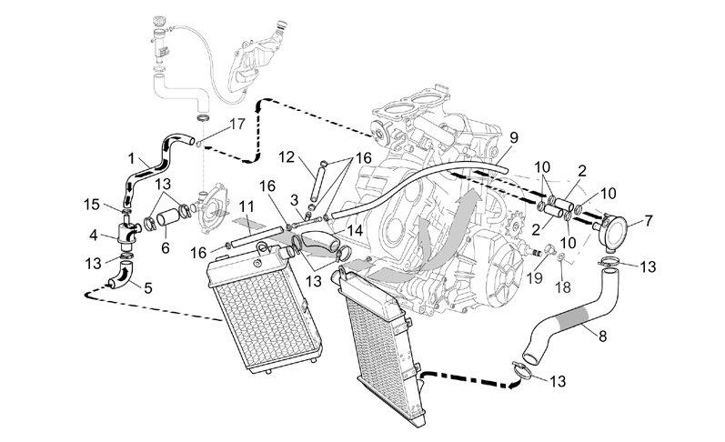 AF1 Racing. 2001-2004 RST1000 Futura Cooling System