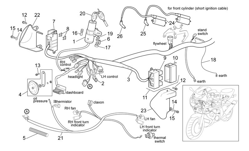 AF1 Racing. 2000-2003 Falco Front Electrical System