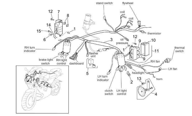AF1 Racing. 2001-2002 Mille Front Electrical System