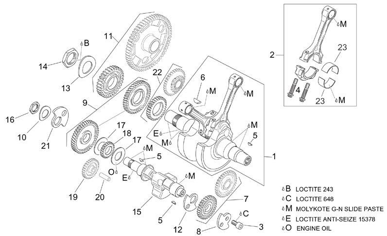 AF1 Racing. 2001-2004 RST Futura Crankshaft