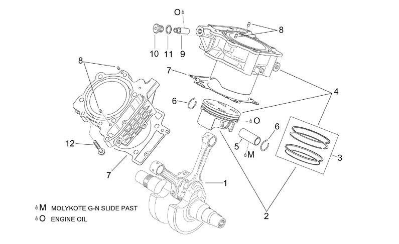 AF1 Racing. 2001-2004 RST Futura Cylinder-Piston