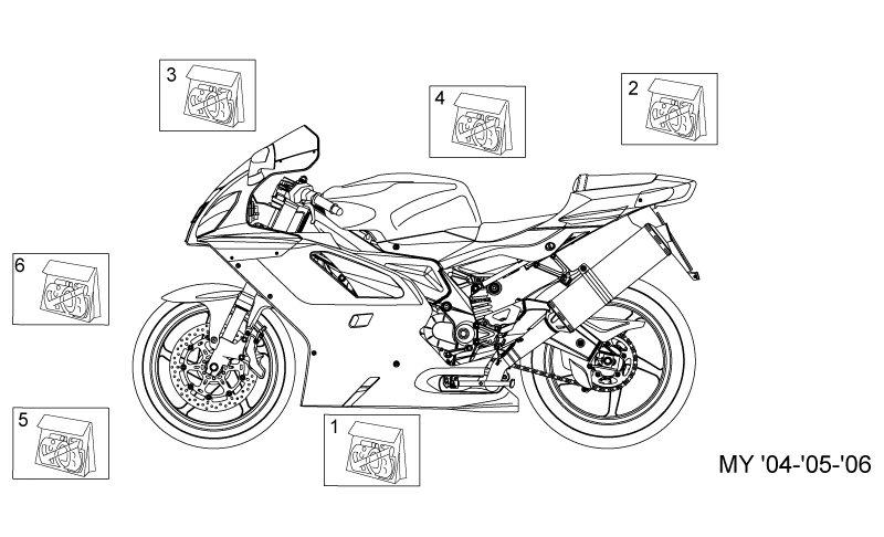 AF1 Racing. 2004-2009 RSVR Decal My 04-05-06