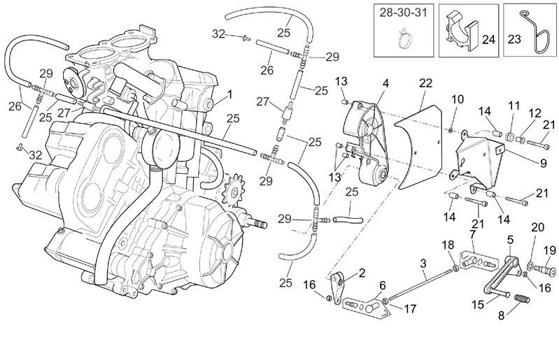 yamaha scooter engine diagram