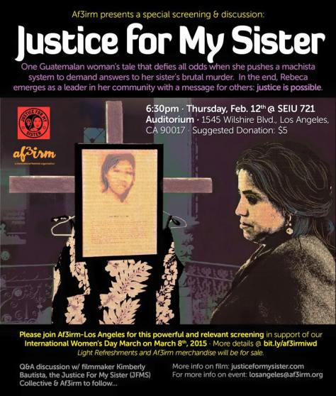Justice for My Sister Screening - Los Angeles