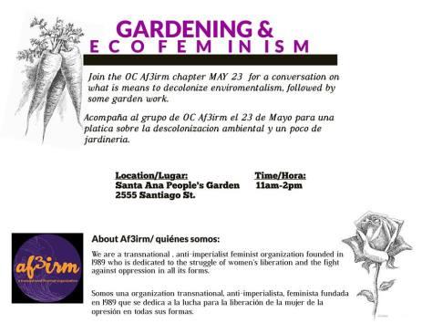 AF3IRM OC: Gardening & Ecofeminism