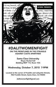 AF3IRM Presents #DalitWomenFight at Santa Clara University