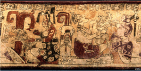 Depiction of the Mayan Moon and the Sky Rabbit Goddess and Sky Rabbit.